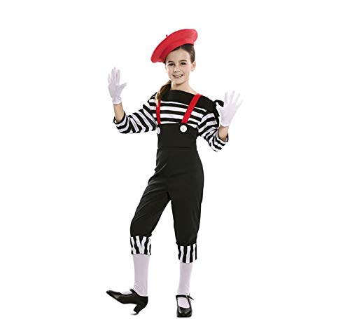 EUROCARNAVALES Disfraz de Mimo Circo para niña 10 a 12 años ...