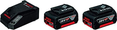 Bosch Professional Akku-Starter-Set 2 x GBA 18 V 4,0 Ah M-C plus AL 1860 CV Schnellladegerät, 1 Stück, 1600A002F8