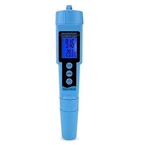 SZLX Medidor de Temperatura ORP de pH 3 en 1 Profesional, Detector de Agua, multiparámetro, medidor Digital de Tres Metros, Monitor de Calidad del Agua, probador