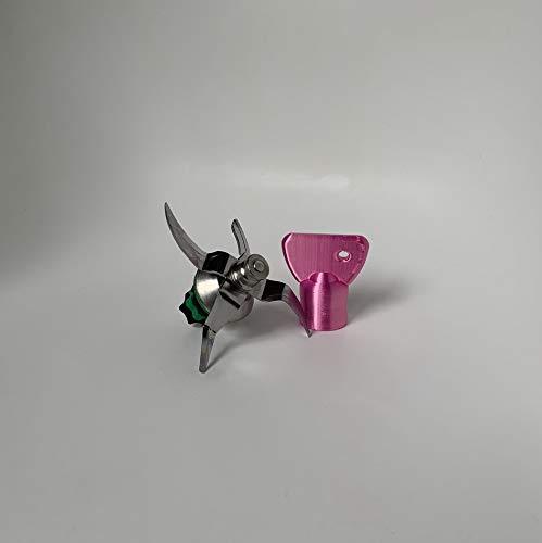 3DJ Teigblume Drehhilfe passend Thermomix TM5 I TM6 Thermomix Zubehör Satin Edition (Satain Pink)