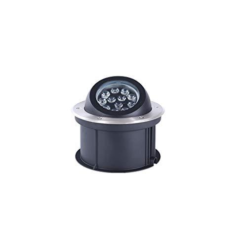 Ryan Inbouwspot, voor buiten, 12 W18 W LED buiten, geïntegreerde verlichting, waterdicht, landschapslicht, verstelbaar, lampkop