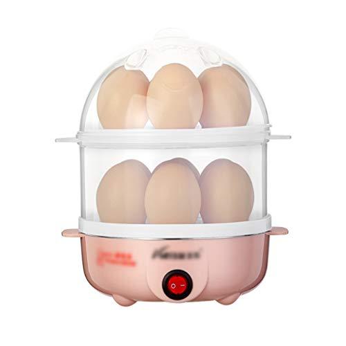 Qjifang Huevera, Capacidad para 14 Huevos, Sartén eléctrico, Doble Capa Individual, Multifunción