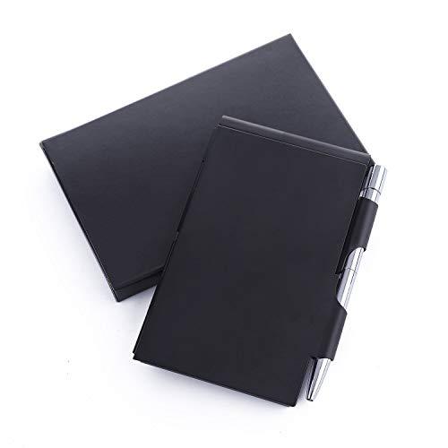 Amassan Notizbuch, aus Aluminium, mit Mini-Stift und Notizblock