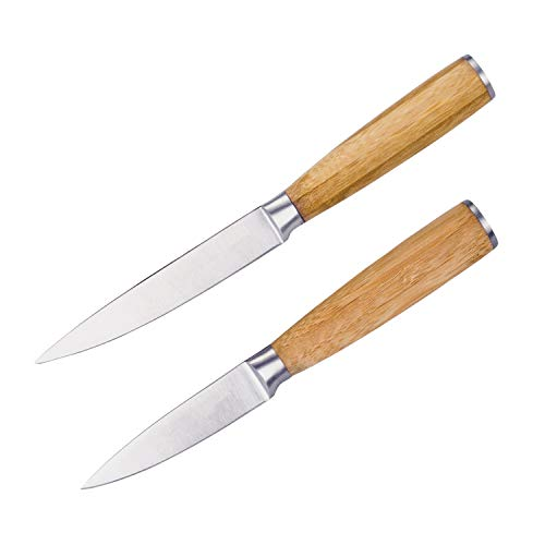 Juego de 2 cuchillos de cocina con mango de bambú de bremermann,...