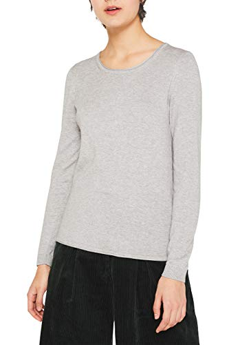 edc by ESPRIT Damen 999CC1I802 Pullover, Grau (Light Grey 5 044) -2019, M