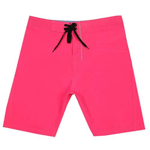 LINSID Badeanzug Herren Badehose Quick Dry Surf Beach Shorts Sport Badebekleidung Herren Boardshorts Man Gym Badeanzug Pink