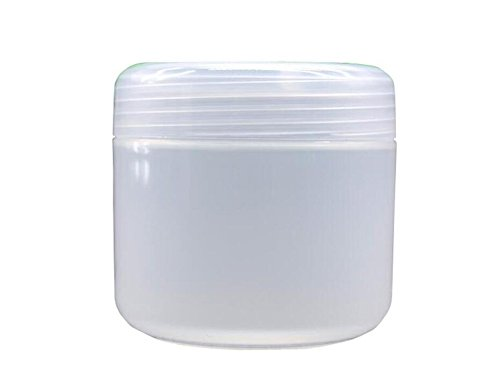 3PCS 100ML / 100G 3.4oz Refillable Empty Plastic Make-up Cosmetic Jars Face Cream Eye Shadow Lip Balm Lotion Sample Storage Container Pot Bottle Case Holder With Screw Cap (Clear)