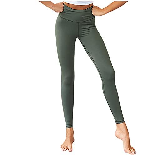 Banbry Damen Leggings Hohe Taille Lange Frauen Weich Blickdicht Pants Super Stretch Streetwear Hüftlift Fitnesshose Sport Hosen Hoch Bund Trainingshose