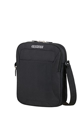 American Tourister - Road Quest Cross-Over Bolso Bandolera, Negro sólido (Black), 27 cm, 6 L