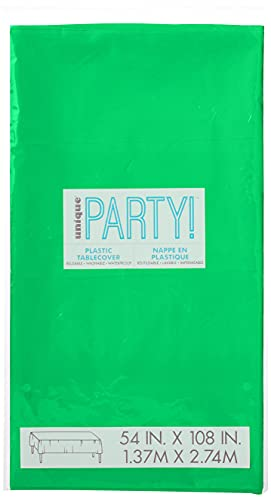 Unique Party Supplies 5091 Kunststoff-Tischdecke - 2,74 m x 1,37 m - Smaragdgrün