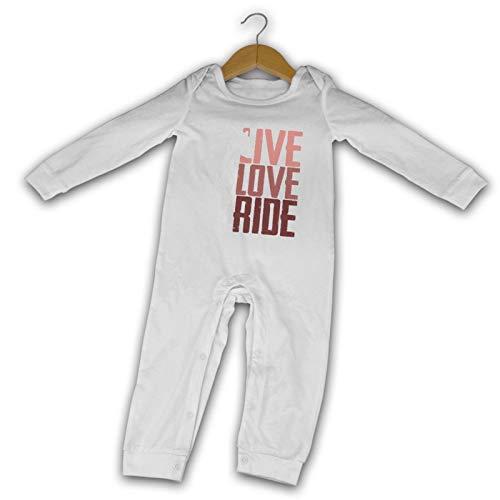 Vive, Amor, Paseo Caballo de Verano de Manga Larga Niñas Niños Bebé Mameluco de Algodón Recién Nacido Bebé Traje de Cuerpo Bebé Pijama Mono
