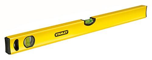 Stanley Wasserwaage Klassik (100 cm Länge, horizontale/vertikale Libelle, Schockabsorber, Genauigkeit ±0,5 mm/m) STHT1-43105