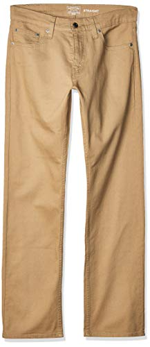 Signature by Levi Strauss & Co. Gold Label Men's Regular Straight Fit Jeans, British Khaki, 32W x 32L