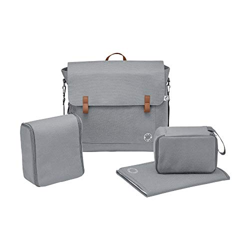 Maxi-Cosi Modern Bag with Spacious Nappy Changing Bag, Insulated Bag and Changing Mat, Essential Grey