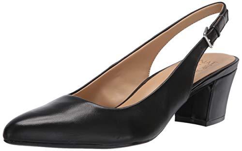 Naturalizer Women's Charlee Pumps, Black Leather 7 medium US