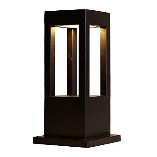 Lámpara exterior metal resistente a la intemperie moderna/Aplique pared Farola cilíndrica Faros delanteros Aluminio fundido a presión negro Óxido jardín D & eacute; cor Luz linterna poste exterior