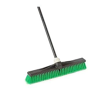 New O-Cedar Professional 24  Multi-Surface Push Broom, Green