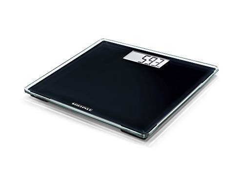 Soehnle Style Sense Compact 100 Personen Digitalwaage in kompakter Größe, Waage mit gut lesbarer LCD-Anzeige, Personenwaage im extraflachen Design