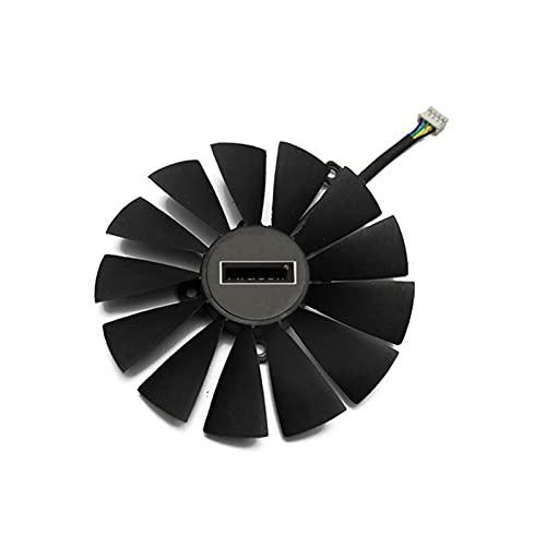 2 Unids/Set 95mm PLD10010S12H GPU Refrigerador para ASUS Dual RX580 4G ROG Strix RX570 GTX 1050TI GTX1080TI Gaming Gaming Tarjeta DE CARDADOR (Blade Color : 1PCS)