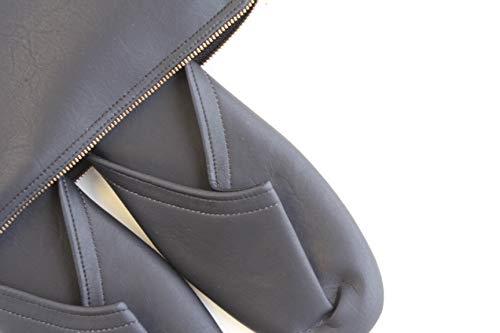スリム 携帯 スリッパ マットタイプ【収納袋付き (M(24.5cm程度まで), ブラック)