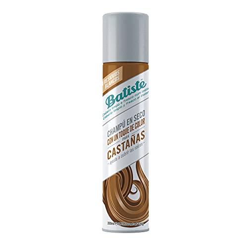 Batiste Shampooing Rafraîchissant Instant Sec Plus avec un soupçon de couleur Jolie Brunette, 200ml