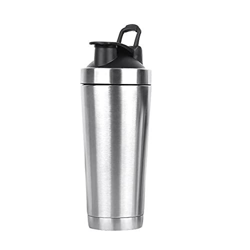 JSJJAKM Botella de agua de galón, botella de acero inoxidable, botella de agua al vacío, de doble pared, de acero inoxidable (capacidad: 700 ml, color: negro)