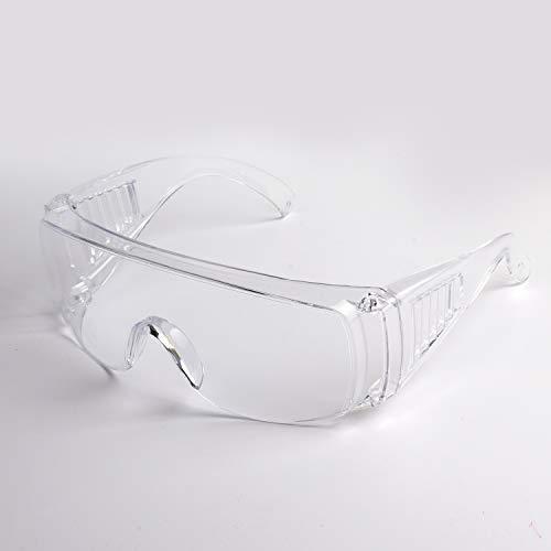 Gafas de seguridad de peso ligero de Deyard GF, lente anti-niebla resistente a salpicaduras sobre gafas, pieza de nariz suave