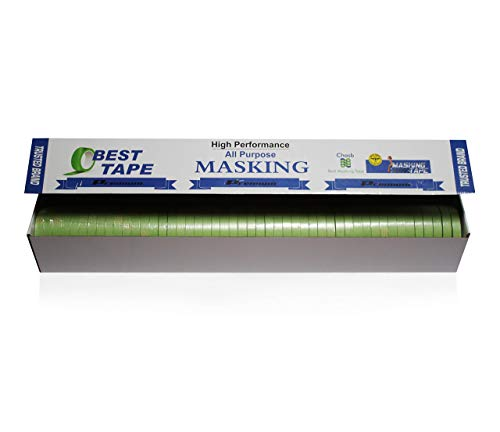 """Insta Finish Automotive Masking Tape 48 Rolls - Green Auto Masking Tape for Industrial and Commercial Use - Easy Stick and Release Automotive Paint Tape - Masking Paper Painting Tape - .75"""" Tape Photo #2"""