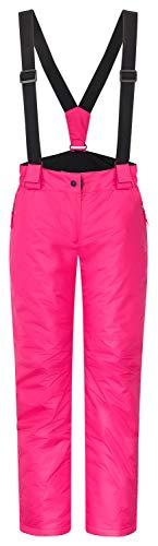 icefeld Damen Skihose/Snowboardhose/Schneehose, pink in Größe M