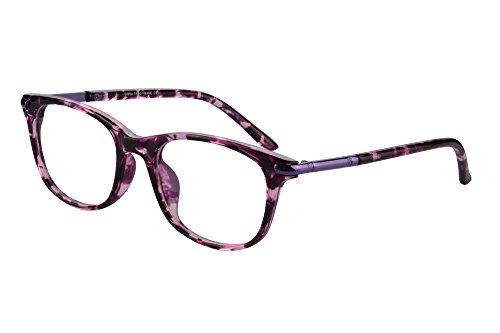 SHINU Horn Rimmed Readers Progressive Multifocus Computer Reading Glasses-SH017(Pink Demi,x2)