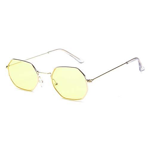 Único Gafas de Sol Sunglasses Moda Hexágono Cuadrado Gafas De Sol Transparentes Mujeres Diseñador Hombres Vintage Marco