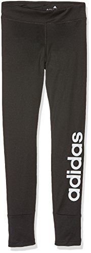 adidas Mädchen Gear Up Linear Tights, Black/White, 116