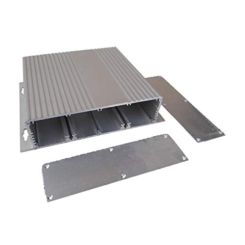 Elektronisches Gehäuse, SENRISE DIY Aluminium Project Instrument Box für PCB Board, Netzteil (1 Stück), silber