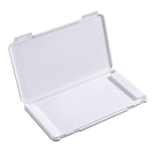 TBOC Caja para Guardar Mascarillas -  Estuche Rectangular [Blanco] para Almacenar Máscaras Organizador Portátil Plástico Duro para Mascarillas Desechables Ligero Reutilizable Protege Suciedad y Polvo