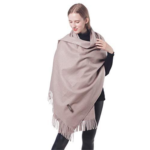 Winter Cashmere Scarfs for Women Soft Warm Pashminas Shawls and Wraps 100% (1-Khaki)