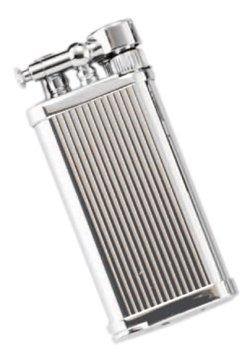 IM Corona »Old Boy« Pfeifen-Feuerzeug chrom mit Längsstreifen