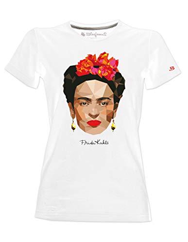 Camiseta de Frida Kalho, Original, Arte Poligonal estilizado - Mujer - Blanco - S