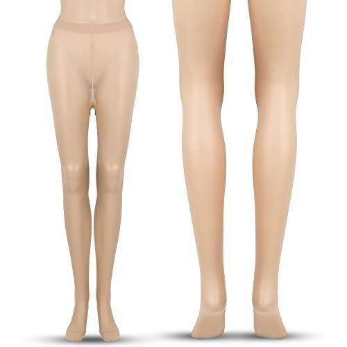 Pantimedia Adelgazante sin Costura Ultrafina Pantimedia Opaca de Mujer (Beige)