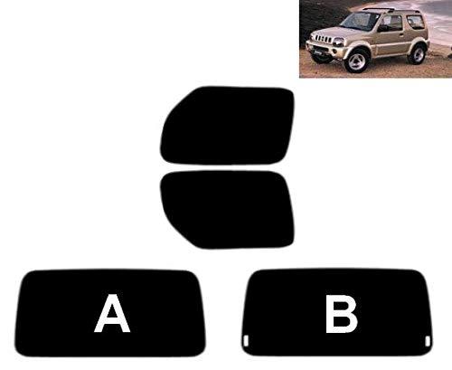 Tintcom.com Pellicola Oscurante Vetri Auto Pre-Tagliata per-Suzuki Jimny 3-Porte 1998-2010 Vetri Posteriori & Lunotto (05% Super Nero, B)