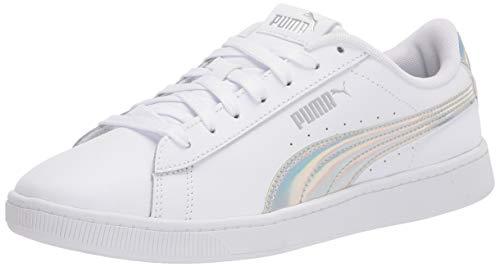 PUMA Women's Vikky 2 Sneaker, White Silver, 8