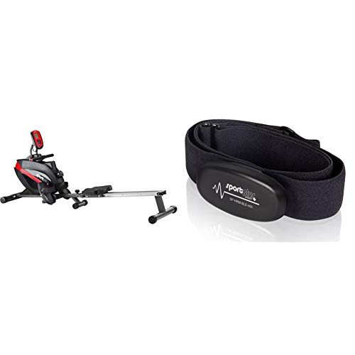 Sportplus Vogatore Per Casa, Sistema Frenante Magnetico Silenzioso Esente Da Manutenzione & Fascia Toracica Bluetooth 4.0 Con Rilevatore Frequenza Cardiaca Per Ios(Da 7.1)