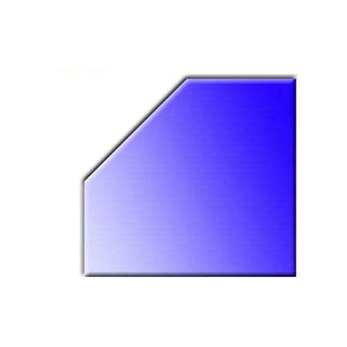 Glasbodenplatte für Kaminöfen Fünfeck 1100x1100 8mm