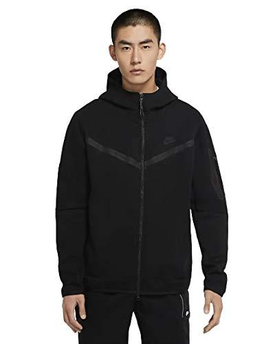 Nike Herren Tech Full Zip Sweatshirt, Black/Black, XL
