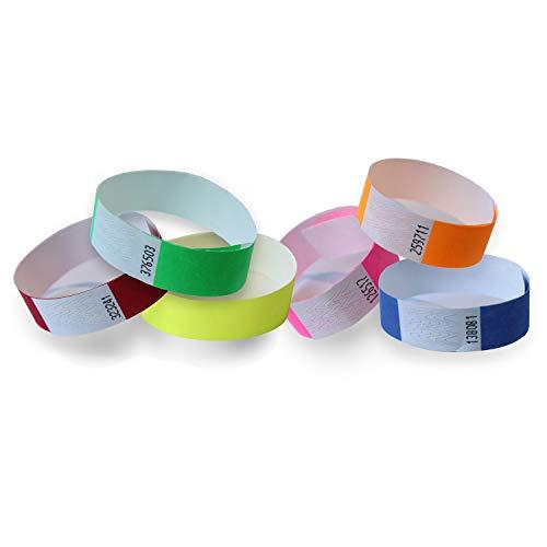 Pack 600 Pulseras papel TYVEK para eventos 19mm Multi colores