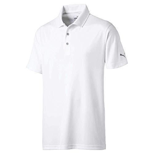 PUMA Golf 2019 Rotation Polo para Hombre, Blanco Brillante, Grande