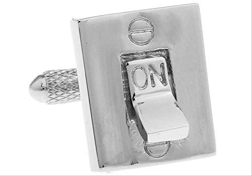 XKSWZD Manschettenknöpfe Switch Button Manschettenknöpfe Silberfarbenes Werkzeugdesign