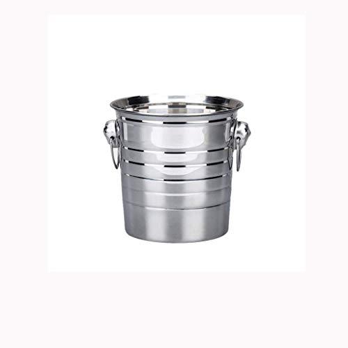 XXDTG Tiger-Kopf Eiskübel - Edelstahl Sektkühler, Getränke Eimer, Bierfass-Schelfeis for Parties, Events und Parties