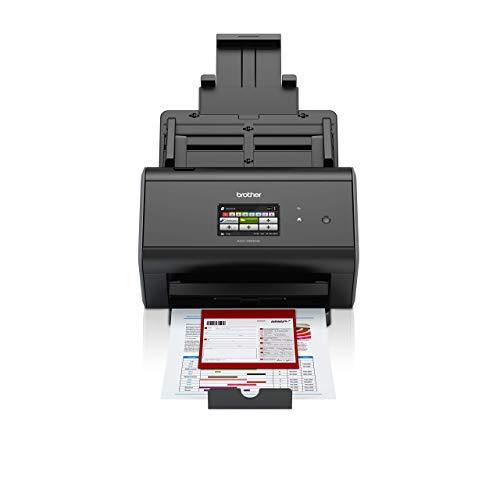 Brother ADS2800W Scanner Desktop  con Rete Cablata e Wireless, Touchscreen,  30 ppm, ADF da 50 Fogli, Dual CIS per Scansione Fronte/Retro Automatica (