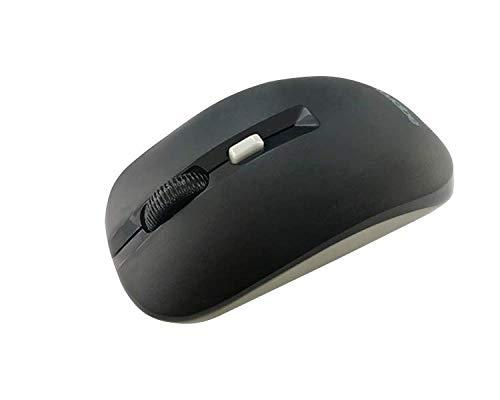 Approx APPXM180BG - Ratón inalámbrico Nano USB 2.0 1600 dpi, Negro y Gris, Cuatro Botones, 2 años de garantía