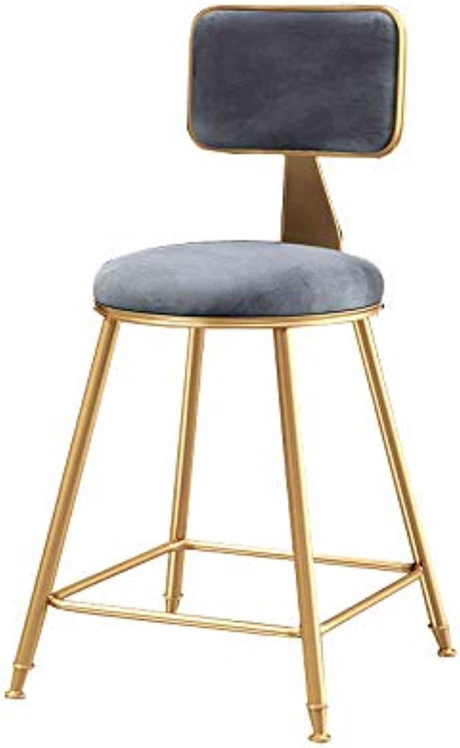 MEIDUO Bar stools Bar Stools,Bar Chair with Backrest Kitchen Pub Counter Chair Velvet Cushion Kitchen Breakfast Barstool 3 Height (Size   45cm -18 )